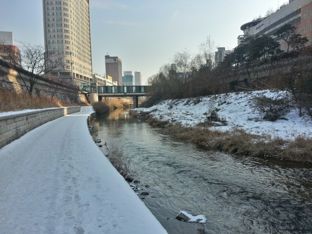 Cheonggye - cold morning