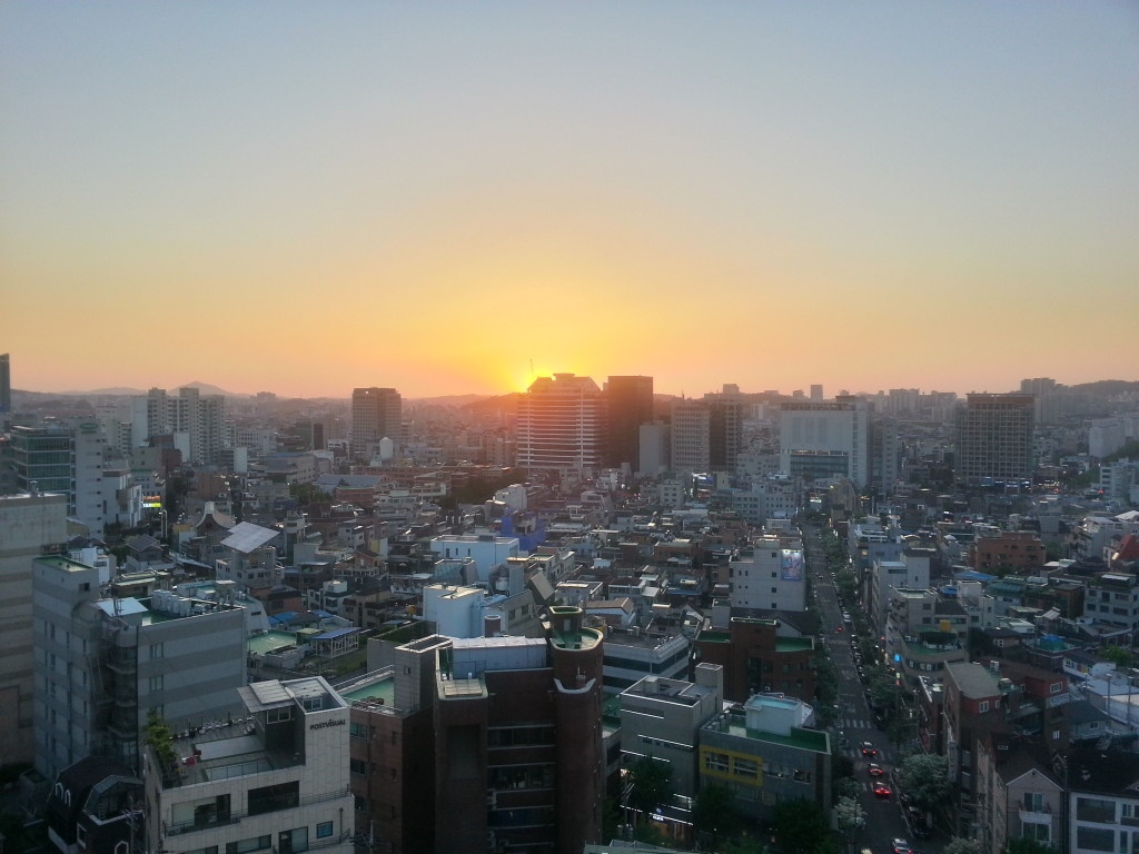 Hongdae sunset2