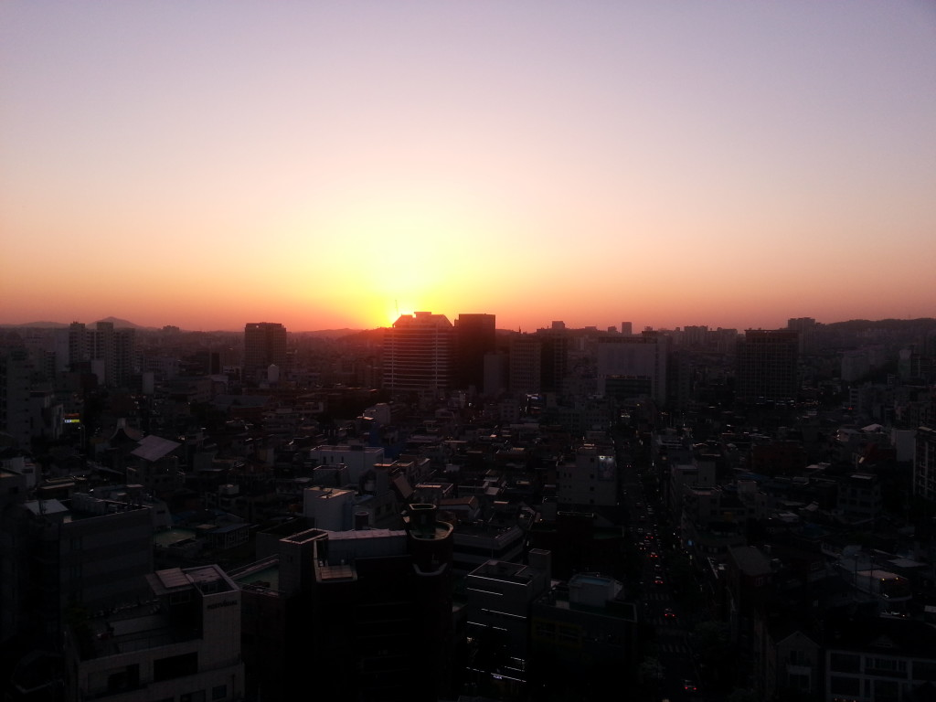 Hongdae sunset